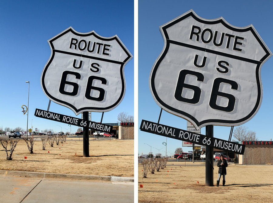 Giants on Route 66: Route 66 sign