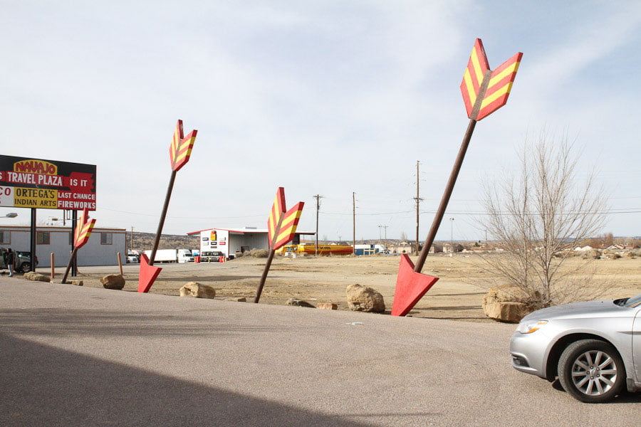 Giants along Route 66: Giant Indian & Arrows at The Navajo Travel Plaza