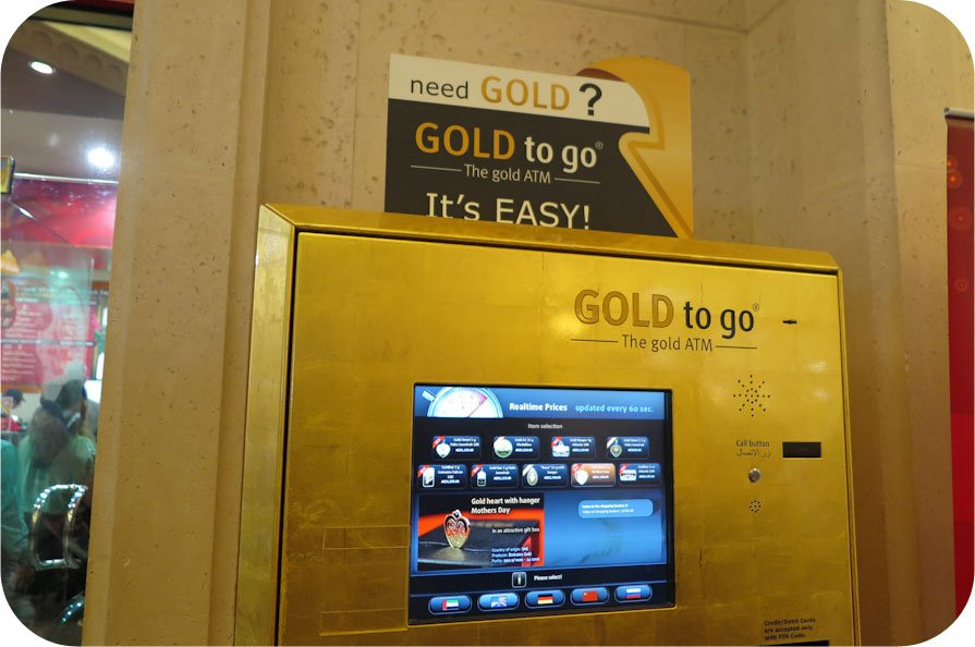 "Only in Dubai - Gold ""to go"""